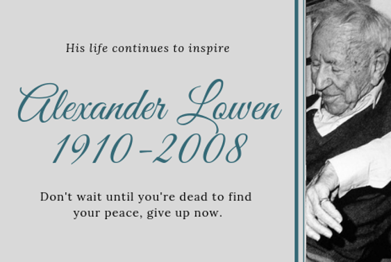 Alexander Lowen News Web