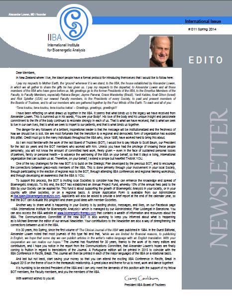 Newsletter- Spring 2014 [EN]
