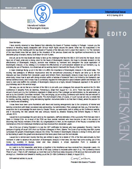 Newsletter- Spring 2015 [EN]
