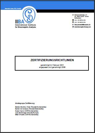 ZertifizierungsRichtlinien [EN, FR, DE, IT, PT, ES]